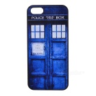 Buy Window Door Painting Emboss Pattern Protective Plastic Back Cover Case Iphone 5 / 5s - Blue