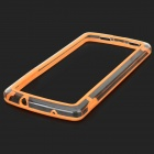 S-What Protective PC + TPU Bumper Frame for Google Nexus 5 - Orange + Transparent