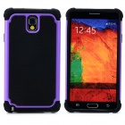 2-in-1 Protective Plastic + TPU Back Case for Samsung Galaxy Note 3 N9000 - Purple + Black