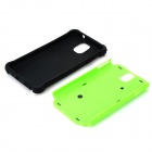 2-in-1 Protective Plastic + TPU Back Case for Samsung Galaxy Note 3 N9000 - Green + Black