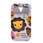 LOFTER Cartoon Happy Zoo Style PU Leather Case Cover for Samsung Galaxy S4 i9500 - Multicolored