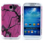 Tree Branch Style Protective Plastic + TPU Back Case for Samsung Galaxy S4 i9500 - Purple + White
