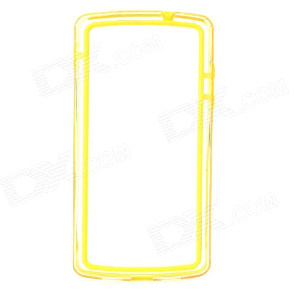 все цены на  S-What Protective PC + TPU Bumper Frame Case for LG Nexus 5 - Yellow + Transparent  онлайн