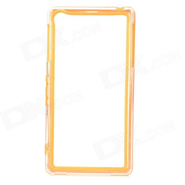 Protective PC + TPU Bumper Frame Case for Sony Xperia Z1 L39h - Orange + Transparent - DXTPU Cases<br>Color Orange + Transparent Brand N/A Model N/A Material PC + TPU Quantity 1 Piece Compatible Models Sony Xperia Z1 L39h Other Features Protects the frame of your device from abrasion Packing List 1 x Bumper<br>