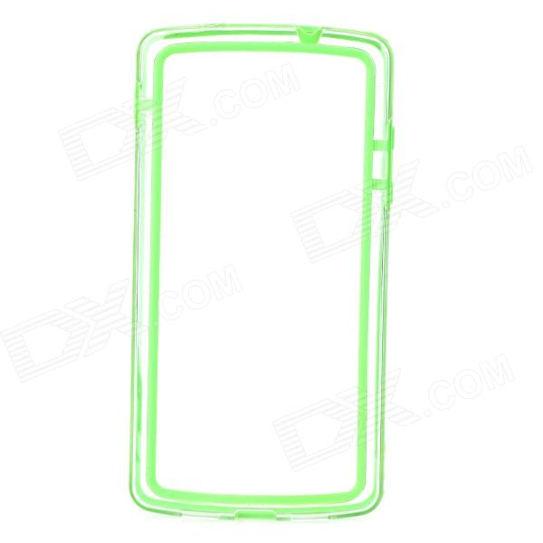 все цены на  S-What Protective PC + TPU Bumper Frame Case for LG Nexus 5 - Green + Transparent  онлайн
