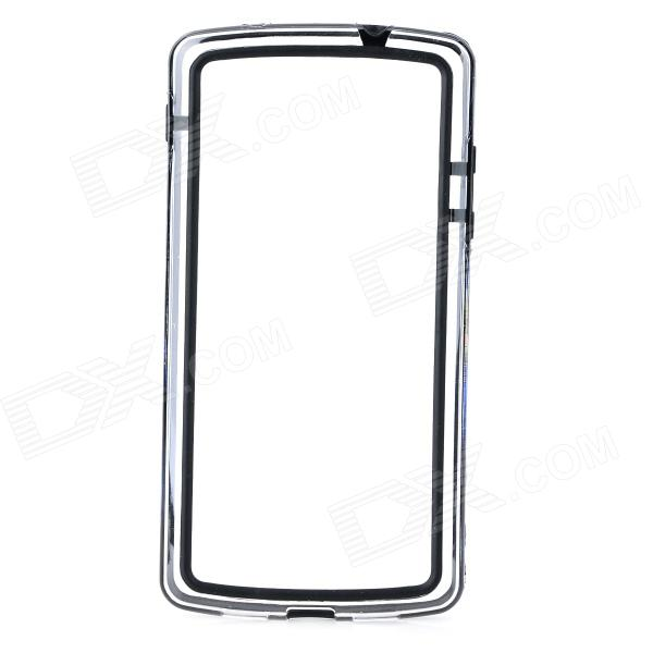 все цены на  S-What Protective PC + TPU Bumper Frame Case for LG Nexus 5 - Black + Transparent  онлайн