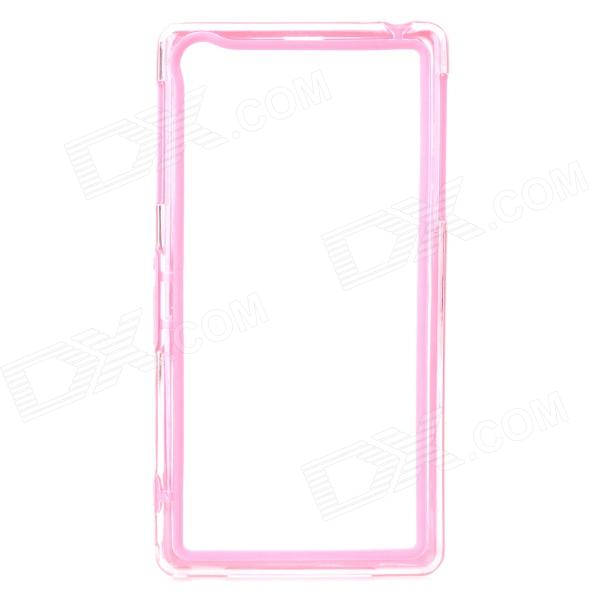 Protective PC + TPU Bumper Frame Case for Sony Xperia Z1 L39h - Pink + Transparent protective tpu   pc bumper frame for lg