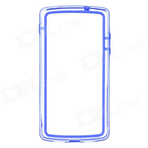 все цены на  S-What Protective PC + TPU Bumper Frame Case for LG Nexus 5 - Dark Blue + Transparent  онлайн