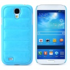 Creative Sofa Style Protective PU Leather + PC Back Case for Samsung Galaxy S4 i9500 - Sky Blue
