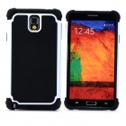 2-in-1 Protective Plastic + TPU Back Case for Samsung Galaxy Note 3 N9000 - White + Black