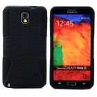 Mesh Style Protective Plastic + TPU Back Case for Samsung Galaxy Note 3 N9000 - Black