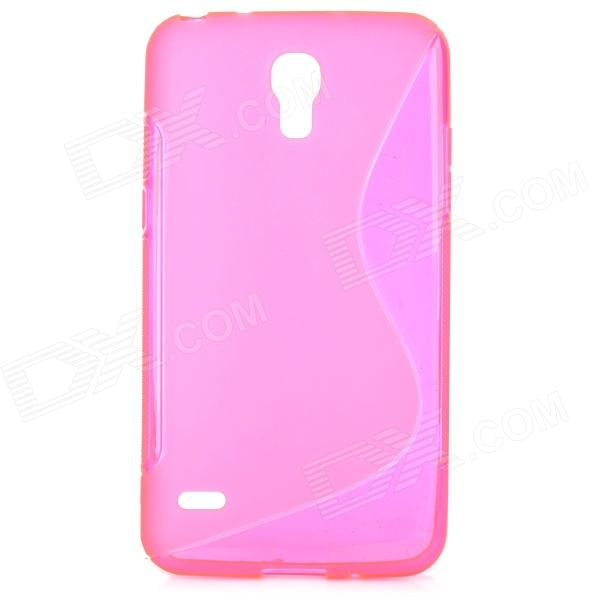 LX-008 S Style Protective TPU Back Case for Samsung Galaxy Round G910 - Deep Pink stylish flexible tpu protective back case for samsung galaxy s4 mini i9190 deep pink