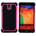 2-in-1 Protective Plastic + TPU Back Case for Samsung Galaxy Note 3 N9000 - Deep Pink + Black