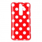 Polka Dot Style Protective Silicone Back Case for LG G2 D801 - Red + White