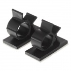 D029 Dashboard Fixed Support Clips for Mobile / GPS - Black (2 PCS)