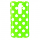 Polka Dot Style Protective Silicone Back Case for LG G2 D801 - Green + White