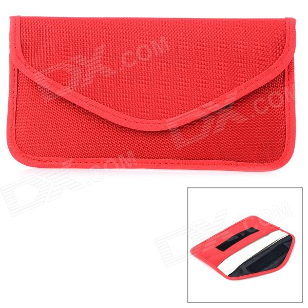 W-298 Stylish Nylon Cell Phone Bag / Change Purse - Dark Red