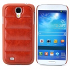 Creative Sofa Style Protective PU Leather + PC Back Case for Samsung Galaxy S4 i9500 - Brown