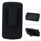 2-in-1 Detachable Protective ABS Case w/ Belt Clip for LG Nexus 4 E960 - Black