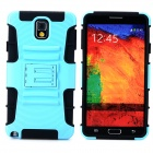 Cool Protective Plastic + TPU Case for Samsung Galaxy Note 3 N9000 - Light Blue + Black