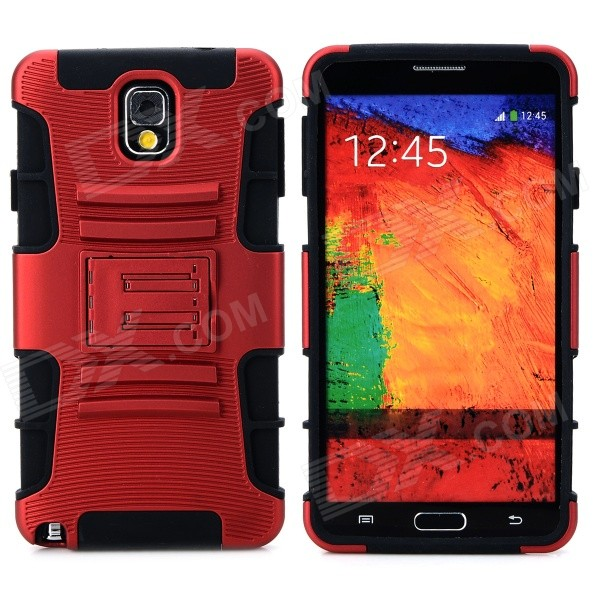 Cool Protective Plastic + TPU Case for Samsung Galaxy Note 3 N9000 - Red + Black enkay protective tpu back case w holder stand for samsung galaxy note 3 n9000 pink