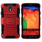 Cool Protective Plastic + TPU Case for Samsung Galaxy Note 3 N9000 - Red + Black