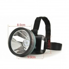 LED 141.4lm Ultra Concentrated Light Water-proof Rechargeable Headlamp - Black