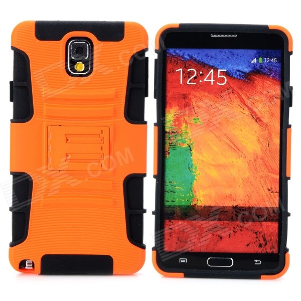 Cool Protective Plastic + TPU Back Case for Samsung Galaxy Note 3 N9000 - Orange + Black 2 in 1 detachable protective tpu pc back case cover for samsung galaxy note 4 black