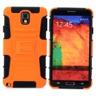 Cool Protective Plastic + TPU Back Case for Samsung Galaxy Note 3 N9000 - Orange + Black