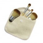 Bambou naturel poignée brosse / Powder Brush / Eye Shadow Brush Brosse Rouge et sets (4 PCS)