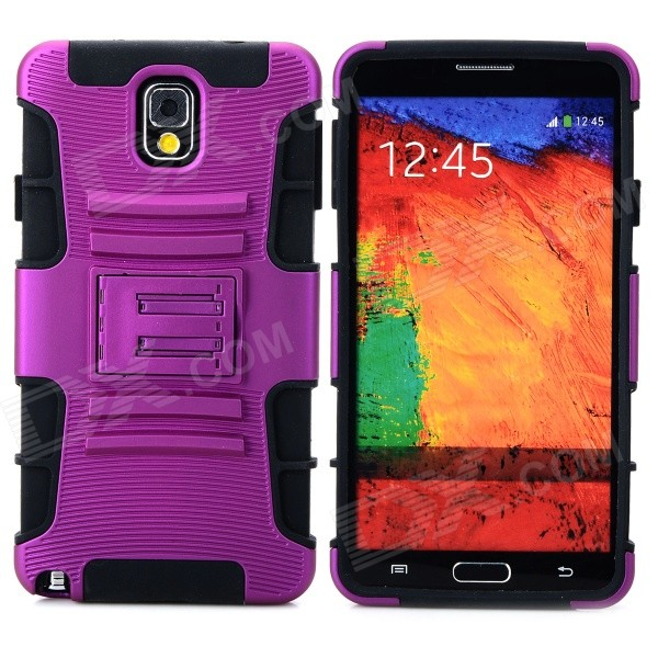 Cool Protective Plastic + TPU Case w/ Belt Clip for Samsung Galaxy Note 3 N9000 - Purple + Black штуцер резьбовой gardena 1 2 18200 29 000 00