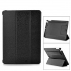 Multi-Function PU Leather Case w/ Auto Sleep / Vent-Hole / Sound Amplifier for Ipad AIR - Black