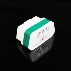 Super Mini iCar2 BT Vehicle OBD-II Code Diagnostic Tool - White +Green