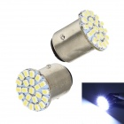 Merdia 1157 5W 150lm 22 x 1206 SMD LED White Light Car Brake Light / Steering Lamp - (2 PCS / 12V)
