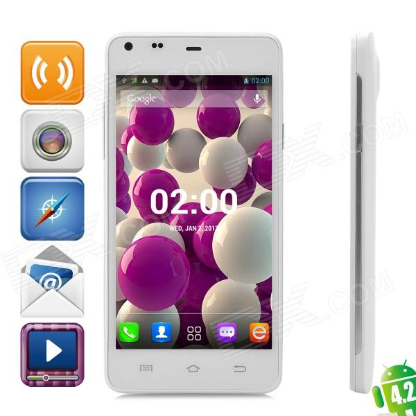 THL T5 Android 4.2 Dual-Core WCDMA Bar Phone w/ 4.7″ qHD, Wi-Fi and GPS – White