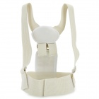Magnetic Posture Corrector Back & Shoulder Support Brace Belt - Beige (Size M)
