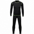 QNGLONIN TW Sports Cycling Thermal Underwear Suit Set - Black (Size XL)