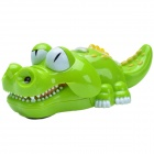 Naughty Little Crocodile Electric toy w/ Cool Music / Light - Green + White (3 x AA)