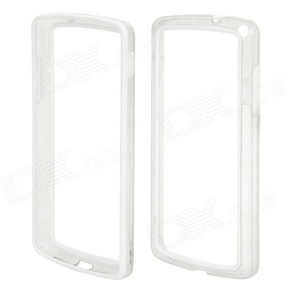 S-What Protective PC + TPU Bumper Frame for Google Nexus 5 - White + Translucent protective tpu   pc bumper frame for lg