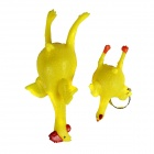 Egg Laying Rooster Vent Toys - Red + Yellow