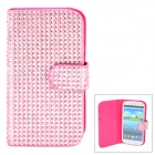Protective PU + Rhinestones Case for Samsung i9300 - Pink