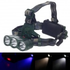 High Power White + Warm White + Blue Light 3-Mode LED Headlamp - Camouflage