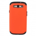 Fashionable Protective Plastic + Silicone Back Case for Samsung Galaxy S3 i9300 - Orange + Black