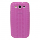 Fashionable Wheel Pattern Protective Silicone Back Case for Samsung Galaxy S3 i9300 - Deep Pink
