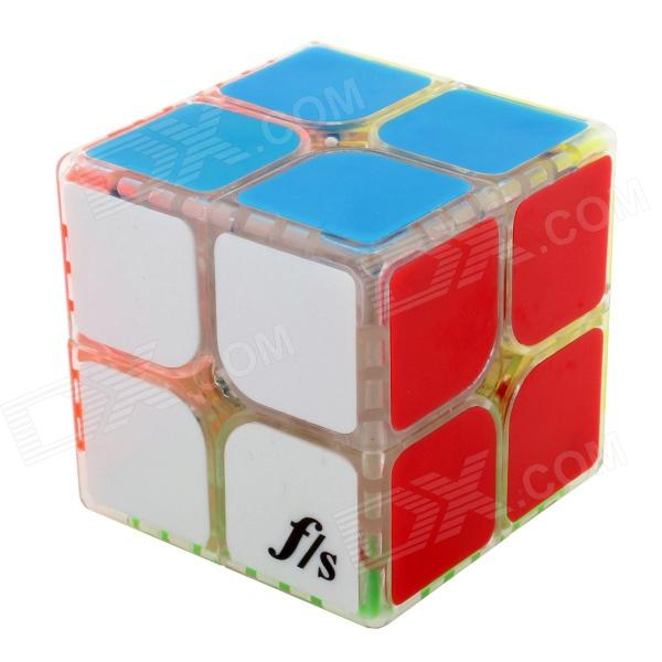 Fangshi(Funs) ShiShuang 2 x 2 x 2 Brain Teaser Magic IQ Cube - Transparent (50 x 50mm) shengshou cube 2 x 2 x 2 mini cube black base fun educational toy