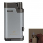 COHIBA 5373 Mini Portable Jet Flame Strong Fire Windproof Inflatable Lighter - Silver Gray + Silver