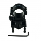 ACCU 25mm Universal Flashlight / Laser Aluminum Alloy Gun Mount - Black