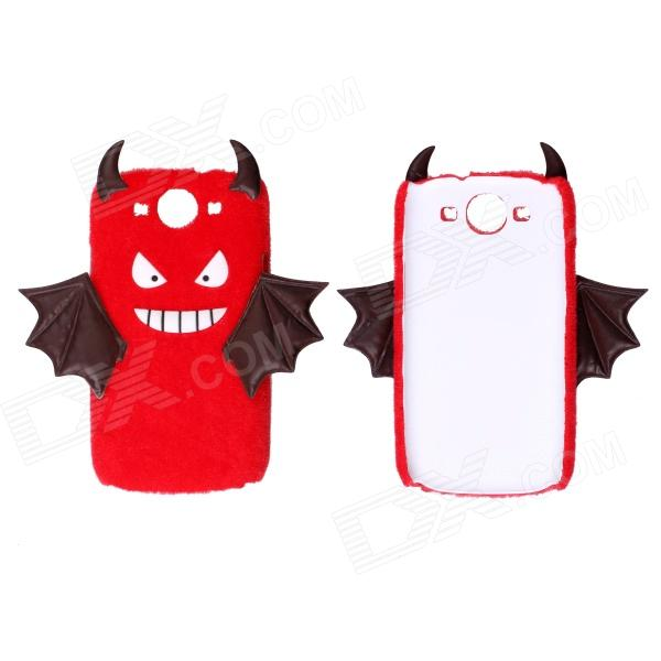 CM008 Small Monster Pattern Protective Back Case for Samsung Galaxy S3 i9300 - White + Red наушники 3d 008