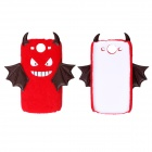CM008 Small Monster Pattern Protective Back Case for Samsung Galaxy S3 i9300 - White + Red