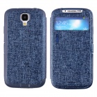 LLMM CM001 Multi-Function Protective PU Leather Case Cover Stand for Samsung Galaxy S4 i9500 - Navy